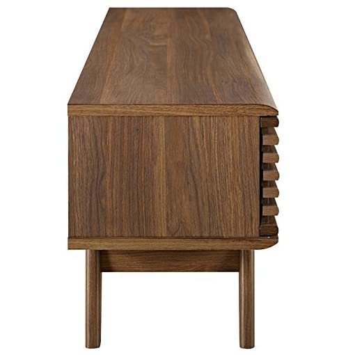 Living Room Modway Render Mid-Century Modern Low Profile 59 Inch TV Stand in Walnut modern tv stands