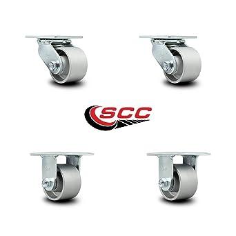 """Semi Steel Swivel Top Plate Caster 300 lbs.//Caster 5/"""" Wheel"""