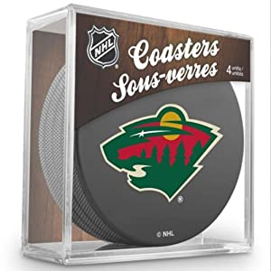 Sher-Wood Minnesota Wild NHL Eishockey Puck Untersetzer (4er Set)
