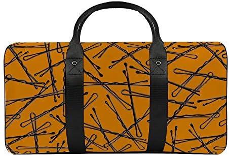 ヘアピン1 旅行バッグナイロンハンドバッグ大容量軽量多機能荷物ポーチフィットネスバッグユニセックス旅行ビジネス通勤旅行スーツケースポーチ収納バッグ