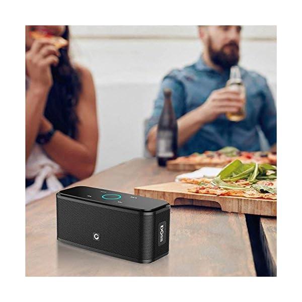 Enceinte Bluetooth 12W, DOSS SoundBox Haut-Parleur Bluetooth sans Fil Portable,Commande Tactile et Définition Stéréo, 12 Heures d'Autonomie en Lecture,Mains Libres Téléphone, Carte TF Support.-Noir 5