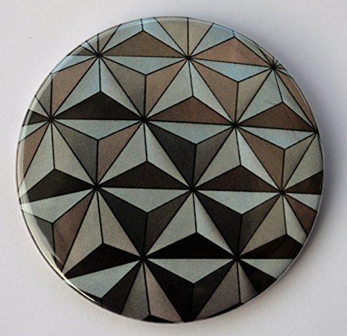Epcot Spaceship Earth Pin Back Button - 3