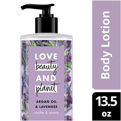 Love Beauty and Planet Argan Oil & Lavender Body Lotion, Soothe & Serene, 13.5 oz