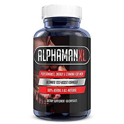 AlphaMAN XL Male Pills | 2+ Inches in 60 days - Enlargement Booster Increases Energy, Mood & Endurance | Best Performance Supplement for Men - 1 Month Supply, 60 Capsules