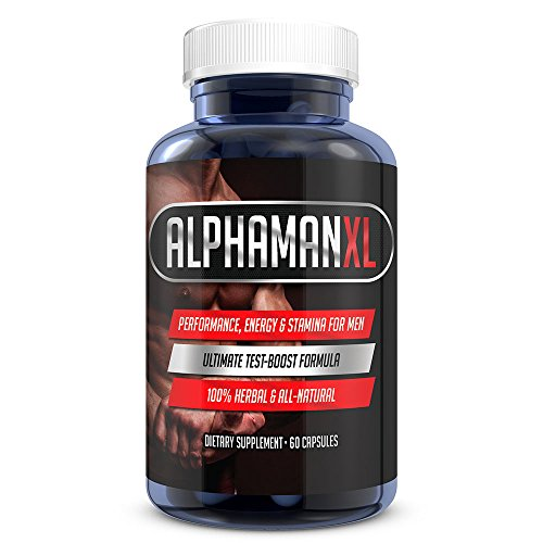 Alphaman Xl Male Pills   2  Inches In 60 Days   Enlargement Booster Increases Energy  Mood   Endurance   Best Performance Supplement For Men   1 Month Supply  60 Capsules