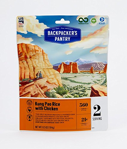 Backpacker's Pantry Kung Pao Rice with Chicken, 2 Servings Per Pouch, Freeze Dried Food, 21 Grams of Protein