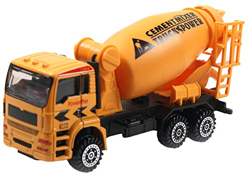 Aivtalk Scale Diecast Cement Mixer Truck Construction Vehicle Transport Car Carrier Truck Toy Model Cars for Boys 50 Diecast Vehicle