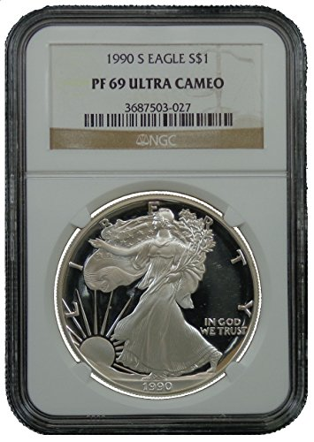 1990 S American Silver Eagle Dollar NGC PF69