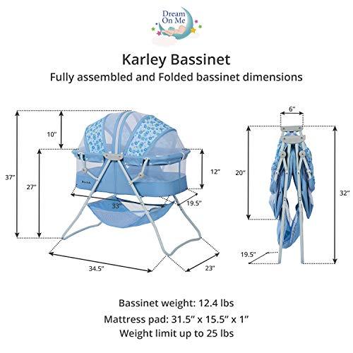 Dream On Me, Karley Bassinet, Light Blue
