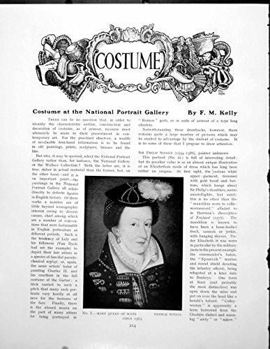 old-print Print Costume National Portrait Gallery Mary Queen Scots 3 Pages 1930 214Q185 for $<!---->