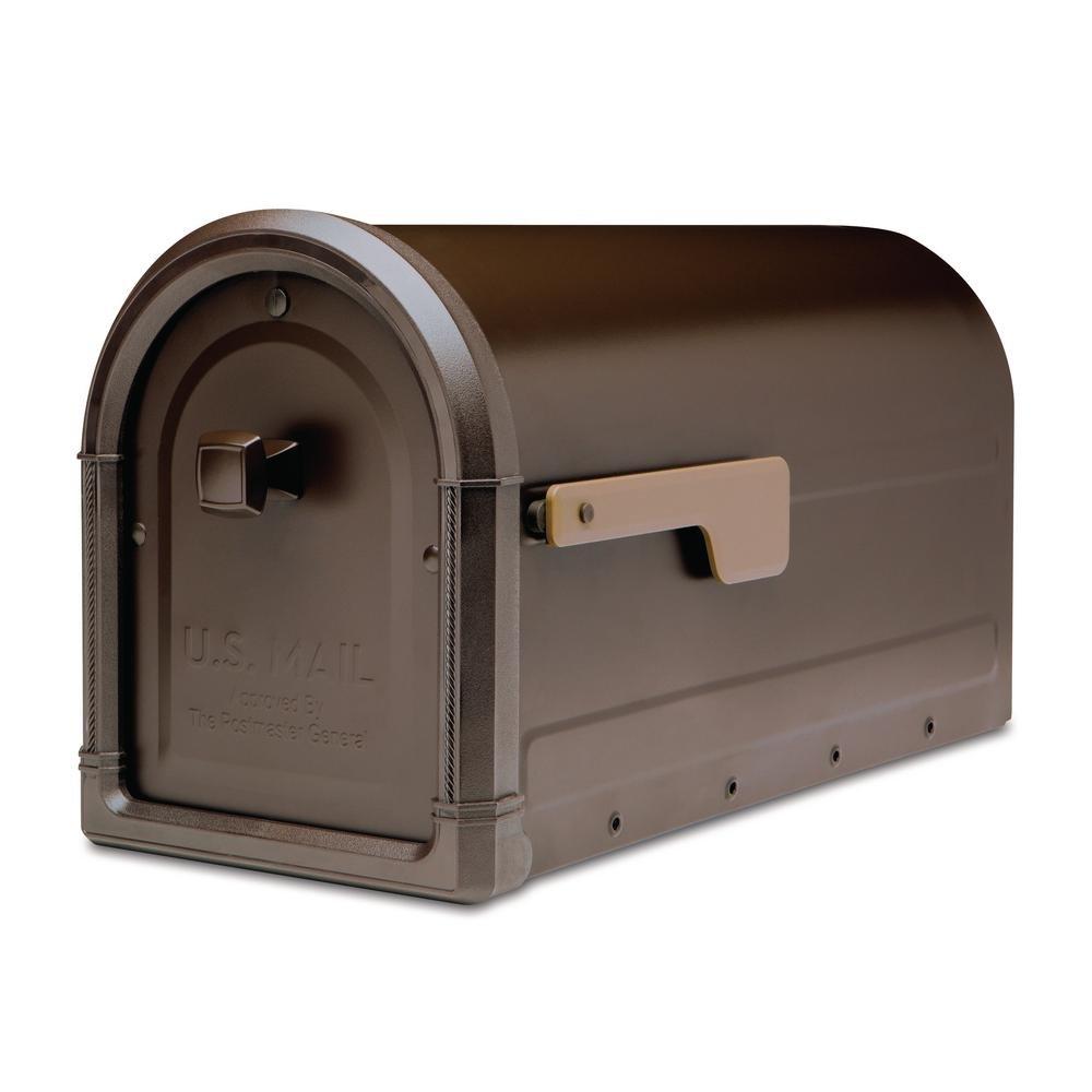 Architectural Mailboxes 7900-5RZ-CG-10 Roxbury Postmount Mailbox, Large, Rubbed Bronze