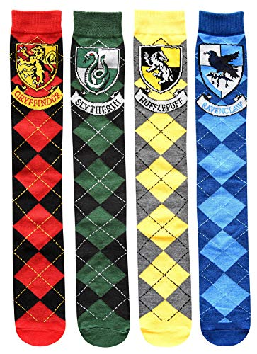 Harry Potter House Crests Argyle Juniors/Womens 4 Pack