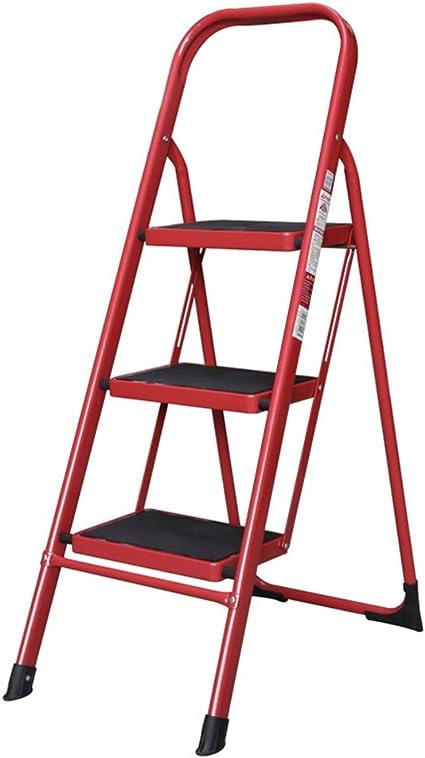 ZZHF tideng Escalera Plegable de Acero Escalera Plegable de Acero Escalera móvil de Tres o Cuatro escalones 5 Colores Opcional (Color : D): Amazon.es: Hogar