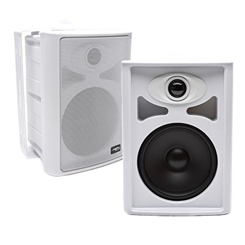 Skar Audio AWX65PW 6.5″ 2-Way All-Weather Indoor/Outdoor Speakers – White (Pair)
