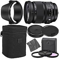 Sigma 24-105mm f/4 DG OS HSM Art Lens for Nikon F with AOM Starter Kit, Sigma Case, Hood, Ultraviolet Filter (UV) Polarizing Filter (CPL) Fluorescent Daylight Filter (FL-D) - International Version