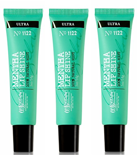 Bath & Body Works C.O. Bigelow Mentha Lip Shine Ultra #1122 3 Pack (Bigelow Lip Balm)