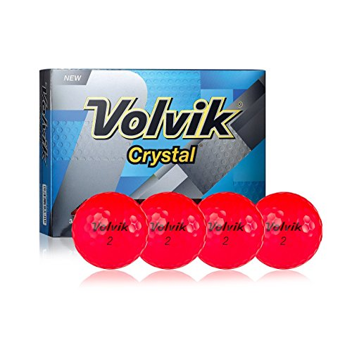 Crystal Volvik Control - Volvik 2016 Golf Balls (One Dozen), Crystal Ruby 9641