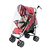 Evelin LEE Rain Wind Shield Waterproof Transparent Baby Stroller Cover Umbrella (A)