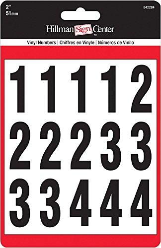 (2-Inch Numbers Kit, Black on White, Square-Cut Mylar, Self-Adhesive (842284) - Six (6) Packs (Kits))