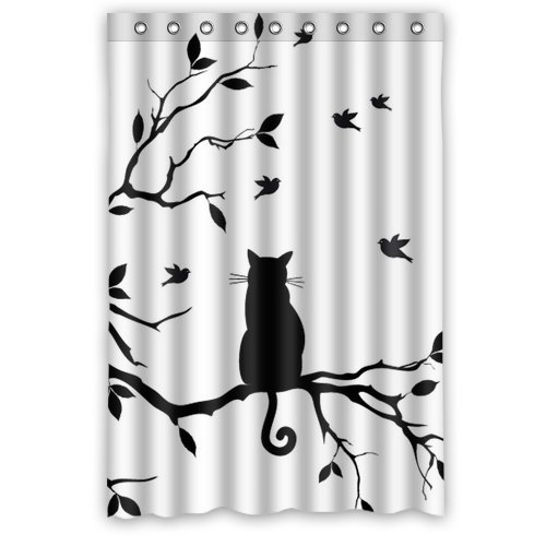 Custom Cat Waterproof Window Curtain Home Decoration Curtains Standard Size 52