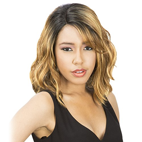 (New Born Free Synthetic Lace Front Wig Curved Part Magic Lace MLC 175)