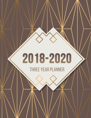 Read Online 2018 - 2020 Three Year Planner: Monthly Schedule Organizer - Agenda Planner For The Next 3Years, 36 Months Calendar, Appointment Notebook, Monthly Planner (3 year planner 2018-2020) (Volume 4) PDF