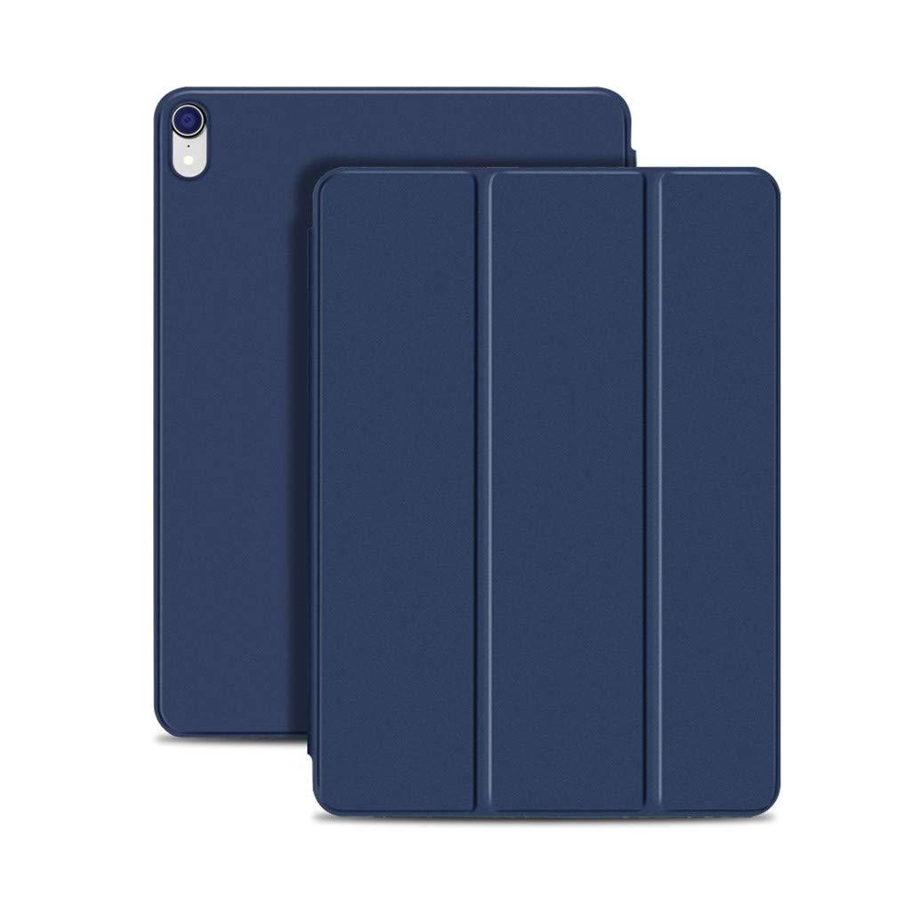 AutumnFall 磁気スマートケース iPad Pro 11 2018用 カバー 三つ折りスタンド マグネットケース 自動スリープ/ウェイク式 PUレザーカバー iPad Pro 11インチ用 for iPad Pro 11-inch 2018  ブルー B07LF63ZFR