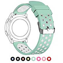 22mm Universal Smart Watch Bands, FanTEK Soft Silicone Sport Quick Release Watch Strap Wristband for Pebble Time Steel/ Moto 360 for Men 2nd Gen 46mm/ Samsung Gear S3 Frontier/Classic--L Size