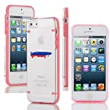 Apple iPhone 4 4s Ultra Thin Transparent Clear Hard TPU Case Cover Russia Russian Flag (Light Pink)