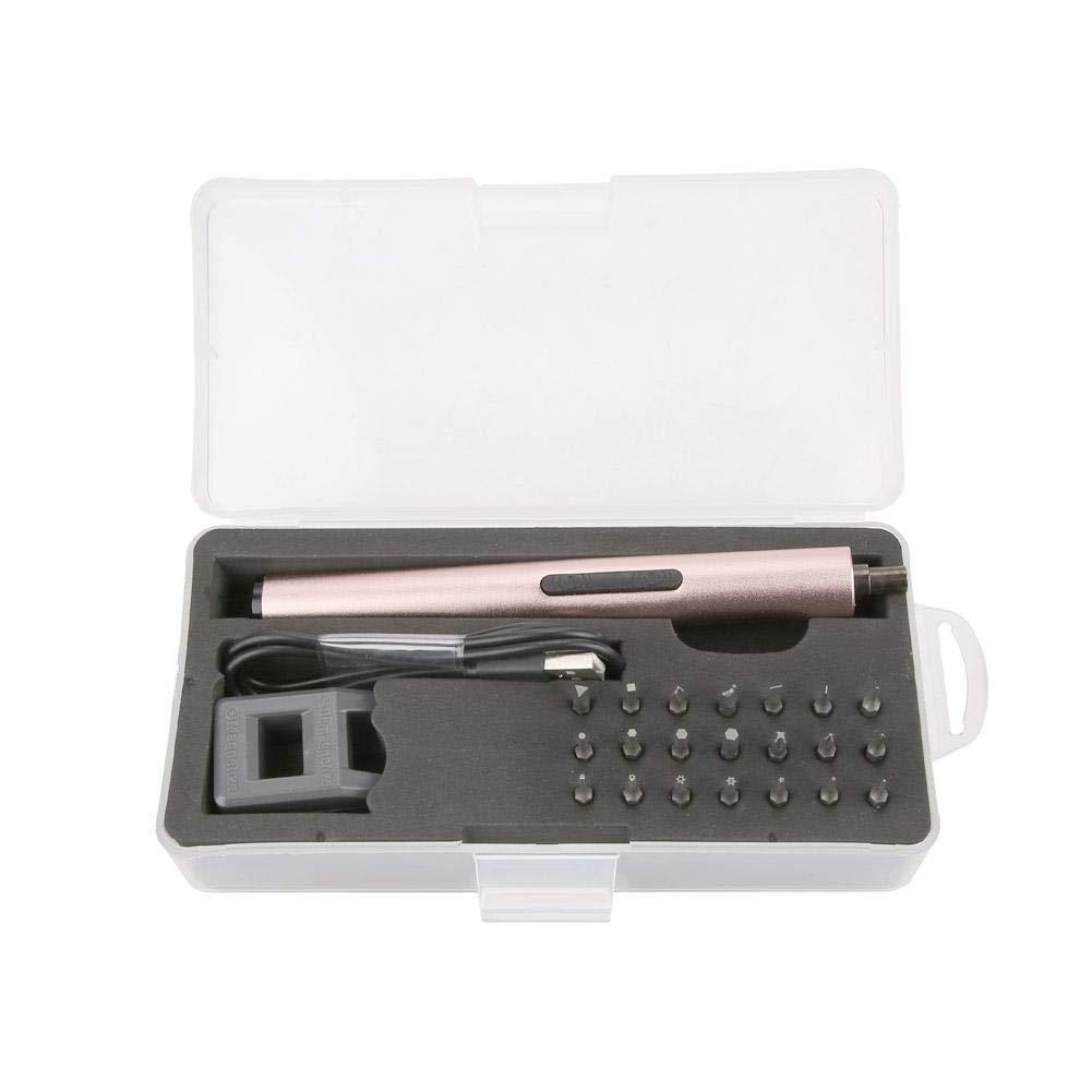 Mini destornillador el/éctrico inal/ámbrico recargable Mini destornillador el/éctrico inal/ámbrico para tel/éfono Juego de herramientas de reparaci/ón de productos digitales