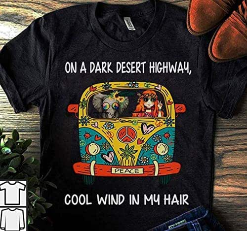 Amazon.com: Hippie car on a dark desert highway T-Shirt