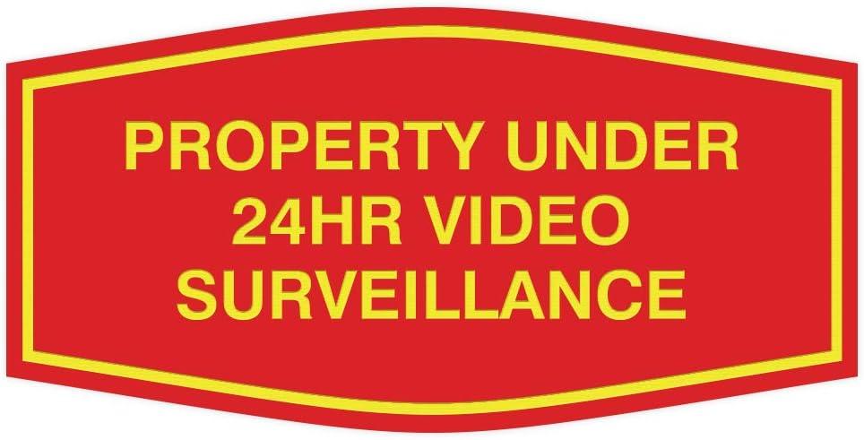 Fancy Property Under 24Hr Video Surveillance Sign Large Black