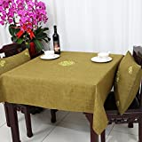 DIDIDD European-Style Palace Flower Tablecloth Fabric Neo-Classical Thicken Cloth Table Cloth Table Cloth Cover Towels,B,150x220cm(59x87inch)