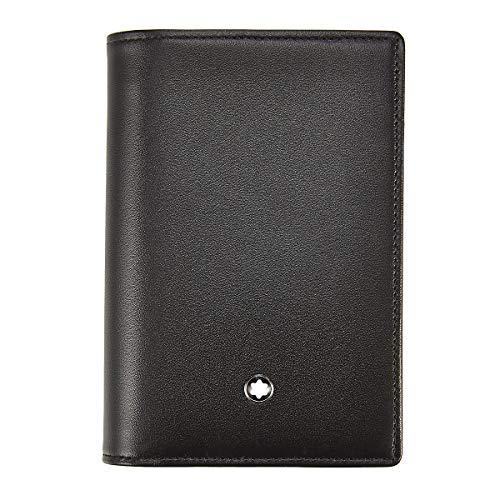 Montblanc Meisterstuck Men's Black Leather Business Card Holder 9cc 114536