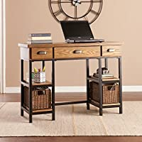 Mirada Desk in Natural Brown and Black