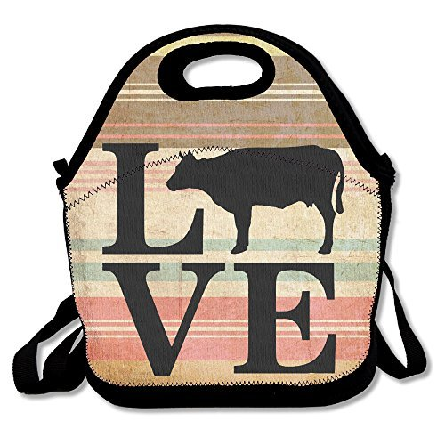 Farm Animal Love Cows Lunch Bag Lunch Tote