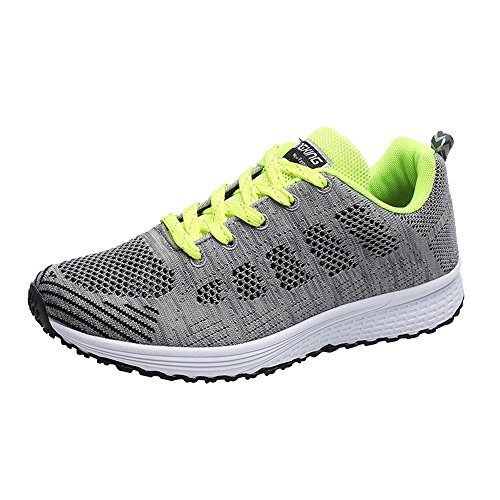 Toponly Couple Women Men Running Sneakers Lightweight Cross Straps Mesh Breathable Sports Running Shoes Loafers - Stripe Patent Sneakers Mens