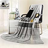 SCOCICI1588 Flannel Fleece Luxury Blanket Contemporary lounge with fireplace Plush Microfiber Solid Blanket(60''x 50'')