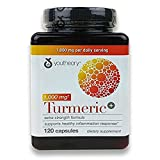 Youtheory Turmeric Extra Strength Formula Capsules 1,000 mg per Daily, 3Pack (120 Count Each ) Tgkvlc