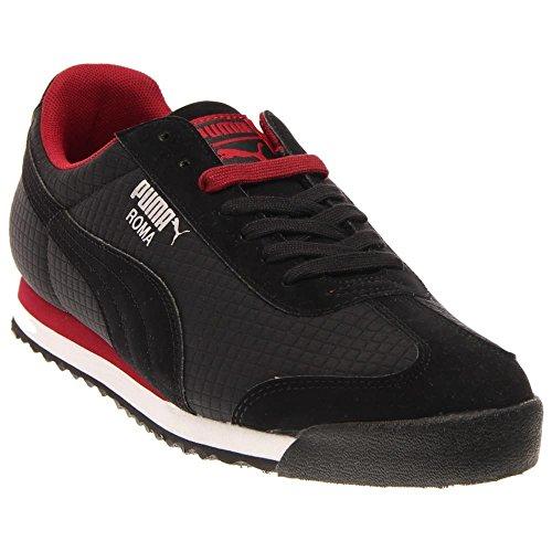 Puma - Zapatillas para hombre Negro/Rojo Rio