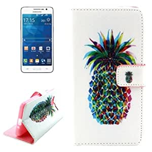 Pineapple Pattern Leather Case with Holder & Card Slots & Wallet for Samsung Galaxy Grand Prime / G530