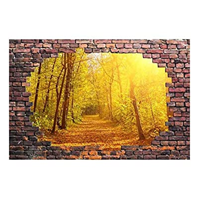 Large Wall Mural - Beautiful Lane in The Woods Self-Adhesive Vinyl Wallpaper/Removable Modern Decorating Wall Art - 66