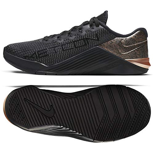 Nike Women's Metcon 5 X Training Shoes (7, Black/Bronze)