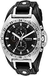 Fossil Men's CH3003 Breaker All-Terrain Chronograph Leather Watch - Black