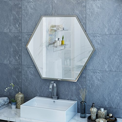 Gerard Hexagonal Wall Mirror - Hexagon Mirror Large