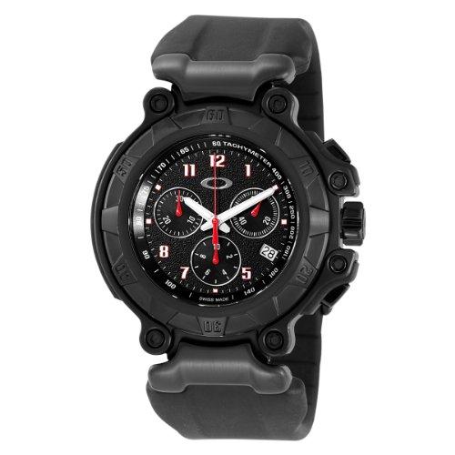 Oakley Men's 10-274 Crankcase Stealth Unobtainium Limited Edition Chronograph Rubber Watch