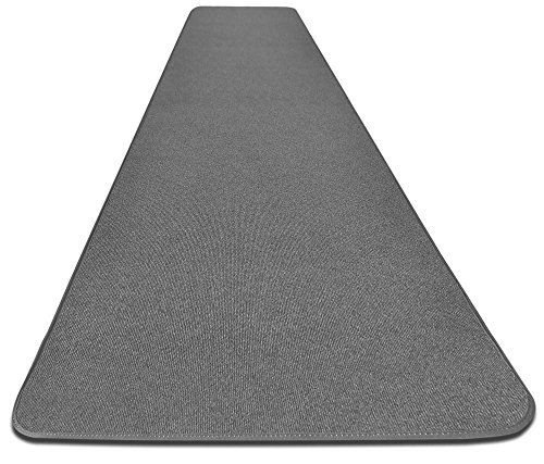 House, Home and More Outdoor Carpet Runner - Gray - 3 Feet x 10 Feet - Made of high-quality, polyolefin indoor/outdoor carpet with a rubber marine backing Low pile-height with a ribbed texture to provide traction Finished on all edges to prevent fraying - runner-rugs, entryway-furniture-decor, entryway-laundry-room - 51fjJ%2Bm%2BChL -