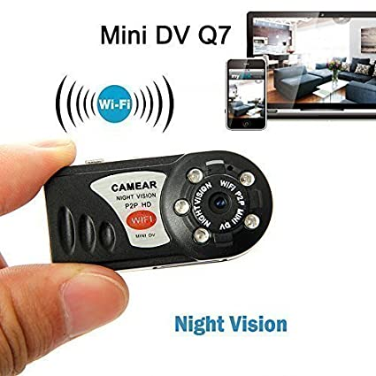 Electro-Weideworld - Q7 Mini portátil WiFi cámara IP de vídeo cámara Seguridad P2P Mini