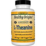 Healthy Origins L-Theanine (AlphaWave) 100 mg, 180 Veggie Caps