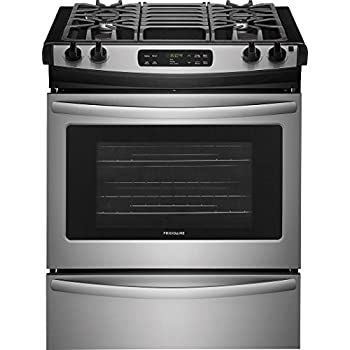frigidaire ffgs3026ts 30 inch slidein range with sealed burner cooktop in stainless steel